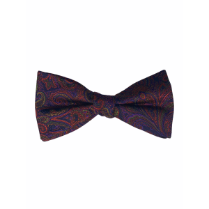 Purple with Red Paisley Silk Bow Tie Paisley Silk Bow Tie