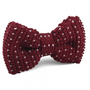 Drafter Dots Maroon Bow Tie with white dots