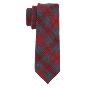 Laos Red Checkerd Cashmere Necktie