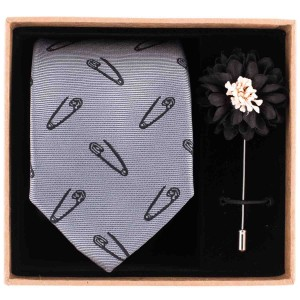 safety pin Necktie Combo Box by The Tie Hub