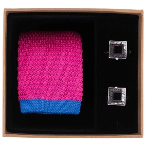 Wisteria Solid Pink Knitted Necktie Combo Box