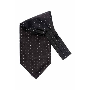 Revolve Black Mini Polka Cravat For Men By The Tie Hub