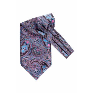 Empire Purple Paisley Cravat For Men By The Tie Hub