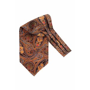 Empire Orange Paisley Cravat For Men By The Tie Hub