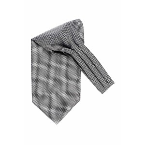Endless Grey Geometric Cravat For Men By The Tie Hub