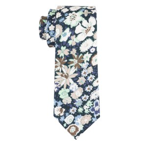 Ashland Blue Floral 100% Cotton Necktie