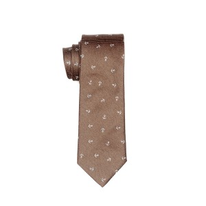 Anchor Brown Pin dots 100%Cotton Neck Tie By The Tie Hub
