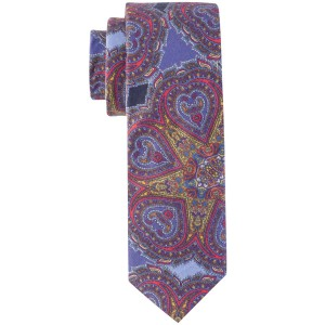 Fulbert Blue Paisly Cotton Neck Tie by The Tie Hub