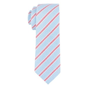 Social Sky Blue Stripe Necktie By The Tie Hub