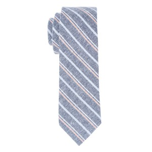 Rangle Grey Stripe 100% Cotton Necktie