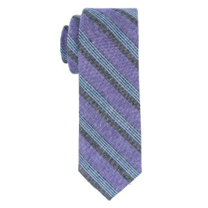 Marina Purple Stripe Necktie by The Tie Hub