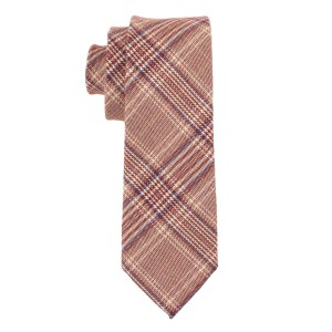 Saint Pink Checkerd 100% Cotton Necktie