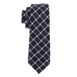 Blue Checkerd 100% Cotton Necktie