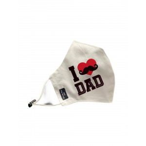 Love Dad Red Heart Face Mask