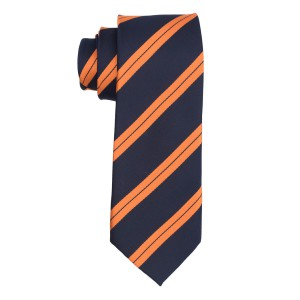 Uptown Stripe Blue And Orange Necktie
