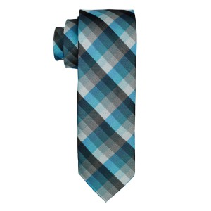 Refinado Plaid Blue And Black Necktie