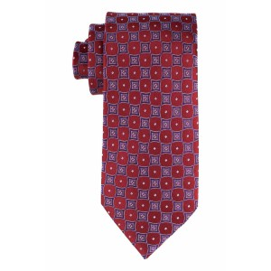 Mini Dot Red and Purple With White Polka 100% Silk Necktie