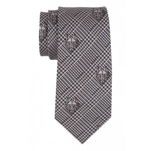 Black and Grey Wolf 100% Silk Necktie