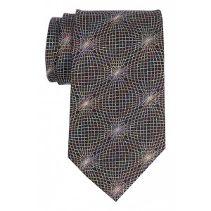 Disco Black with Multicolor 100% Silk Necktie