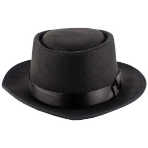 Basic Black Solid Cowboy Hat By The Tie Hub