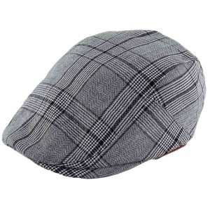 Merchant Black And White Flat Cap by The Tie Hub