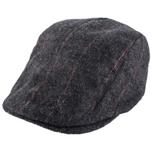 Tard Black and Grey Flat Cap By The Tie Hub