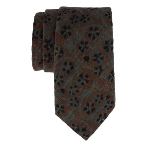 Grey and Brown 100% Khadi Necktie
