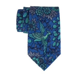 Peacock Blue and Aqua 60% Silk 40% Khadi Necktie