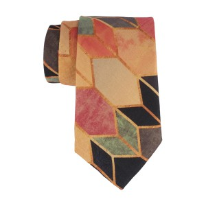 Arrow Tip Blue and Orange 60% Silk 40% Khadi Necktie