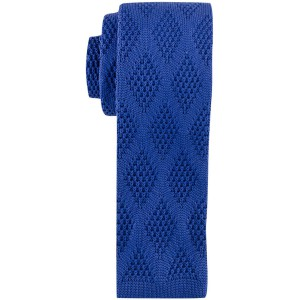 Revington Diamond Sea Blue Slim Handmade Knitted Necktie