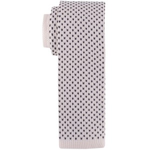 Medallion Cream Slim Handmade knitted Necktie