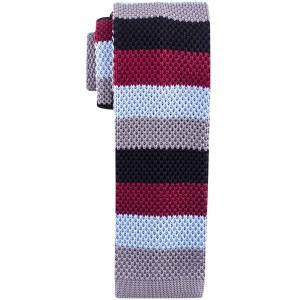 Edition Striped Multicolor Slim Handmade Knitted Necktie