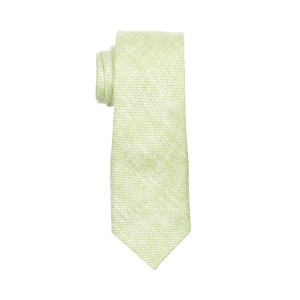Deboniar Solid Lime Green 100% Pure Linen Neck Tie