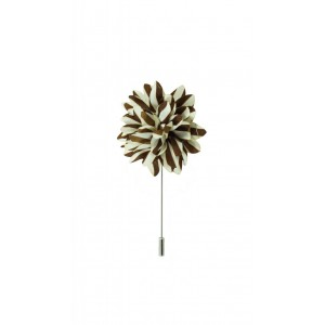 Aster - Brown/Cream (Lapel Pin)