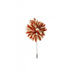 Aster - Red/Cream (Lapel Pin)