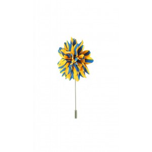 Aster - Yellow/Blue (Lapel Pin)