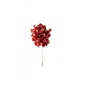 Gladiolus Maroon and Cream Lapel Pin