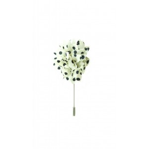 Gladiolus - White/Black (Lapel Pin)