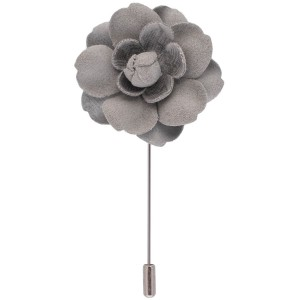 Lapel Pin - Dahlia Grey Flower
