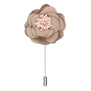 Ixora Peach Flower Lapel Pin