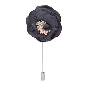 Ixora Black Flower Lapel Pin