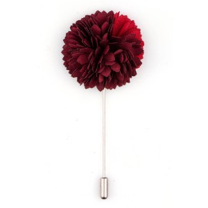 Maroon/Red Shade Flower Lapel pin