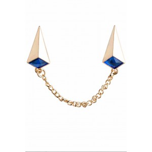 Froster Blue Chain Lapel Pin