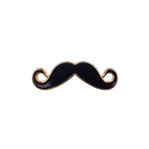 Black And Gold Mini Mustache