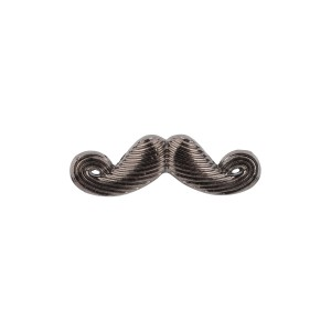 Mini Mustache Gunmetal Metal Lapel Pin