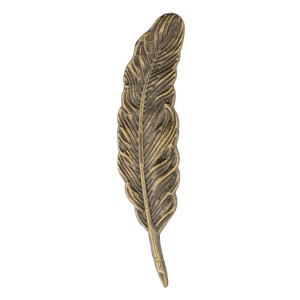 Feather Antic Metal Lapel Pin