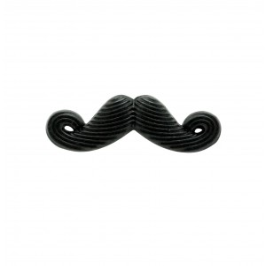 Moustache Black Metal lapel pin