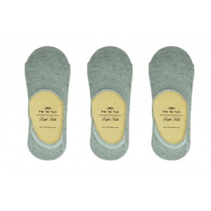 Vista Solid - Pack of 3 Light Grey Loafer socks