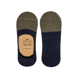 Parker Two Color Loafer socks - Green/Navy