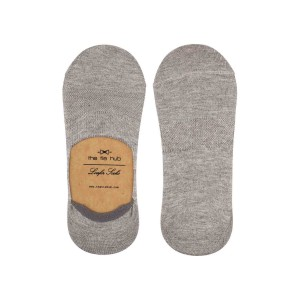 Corty Solid Light Grey Loafer Socks